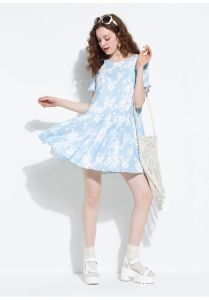 2015 New Arrival Floral Print Pleated Chiffon Summer Dress pictures & photos