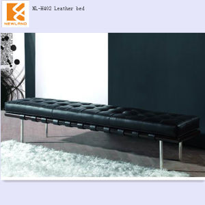 Newland Furniture Factory Modem Leather Wrought Iron Sofa Bed (NL-H402)