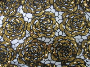 Mesh Sequin Embroidery Fabric (0650A)