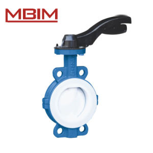 Lever Operated Line Fluoroplastic Butterfly Valve (DN50-DN1200) pictures & photos