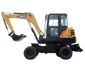 Sany Sy65W Hydraulic Samll Wheel Excavator Construction Equipment pictures & photos