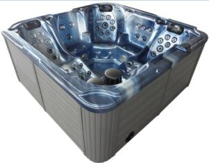 2 Lounge Seats Freestanding Acrylic Hydro Whirlpool Outdoor SPA Hot Tub for Hot Sell pictures & photos