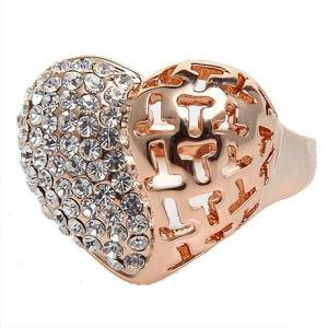 Heart Shape Golden Rings for Lovers (FQ-9028)