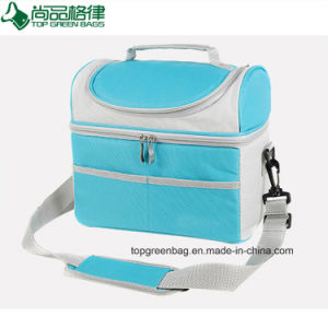 Popular Double-Deck Diverse Color Insulated Cooler Bags pictures & photos