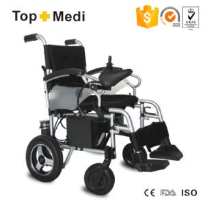 Topmedi Handicapped High Performance Foldable Power Electric Wheelchair China pictures & photos