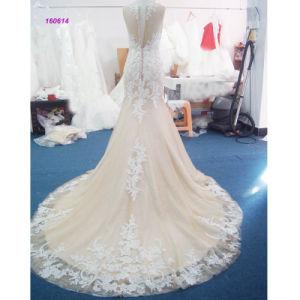China Manufature Wholesale Sleeveless Sheath Wedding Dress pictures & photos