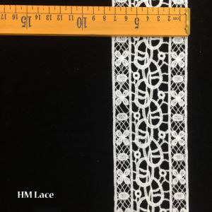 7.5cm Polyester Customized Trim Lace Double Flower Line Trimming Lace Hmw6382 pictures & photos