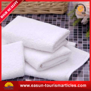 Disposable White Cotton Towel for Airline Use pictures & photos