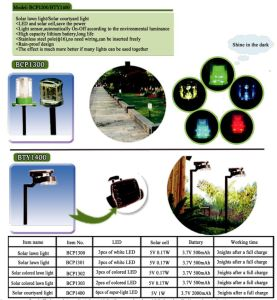 Solar Colored Lawn Lamp (green lighting) pictures & photos