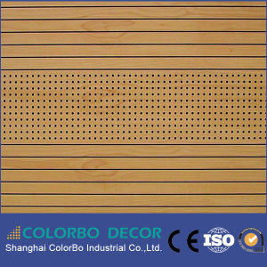 Church Soundproof Wooden Grooved Acoustic Wall Panel pictures & photos