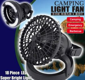 Portable 2 in 1 Combination 18 LED Lamp Camping Light Lantern Fan pictures & photos