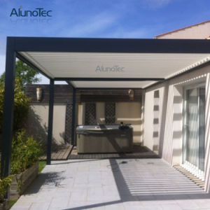 Aluminum Motorized Waterproof Pergola Roof Garden Louvered Pergola Kits pictures & photos