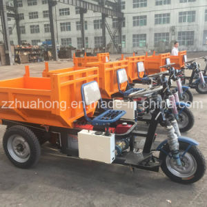 Small 3/4 Wheels Tipper, Electric Cargo Dumptruck with Hydraulic Lifting System pictures & photos