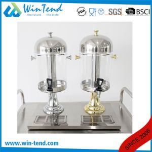 Commercial Gold-Pained Portable Plastic Double Heads Cold Orange Juice Dispenser pictures & photos