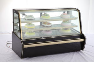 Cheering Hot Sale Curved Glass Marble Refrigerated Cake Showcase pictures & photos