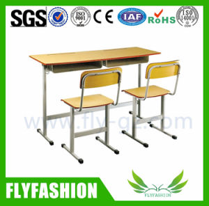 School Classroom Furniture of Double Student Desk (SF-67) pictures & photos