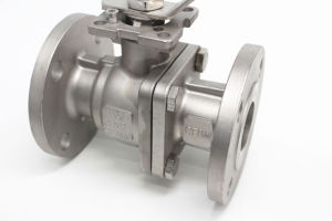 Stainless Steel Two Piece Flange Ball Valve pictures & photos