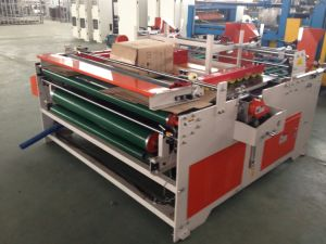 High Quality Low Speed Semi-Auto Carton Gluer Machine pictures & photos