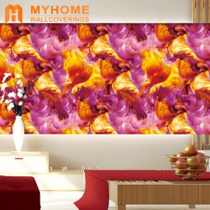 2017 Guangzhou Home Decoration PVC Vinyl 3D Wall Paper Manufacturers pictures & photos