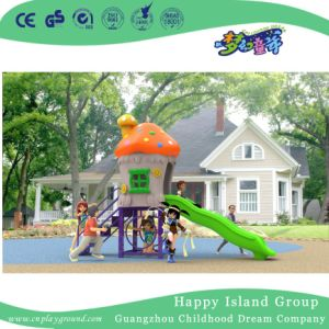 2018 New Design Outdoor Small Mushroom House Playground with Slide (H17-A3) pictures & photos