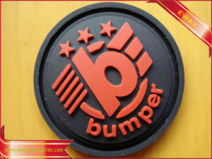 Garment Round Rubber Patch Adhesive Rubber Patch pictures & photos