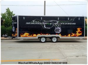 ISO9001 BBQ Refrigerated Caravan Food Juice Bar Kitchen Catering Trailer pictures & photos