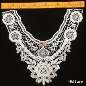36*31cm Soft Embroidery Collar Trimming Lace White Flower Symmetrical Garment Accessories Hml8539 Lace Fabric pictures & photos
