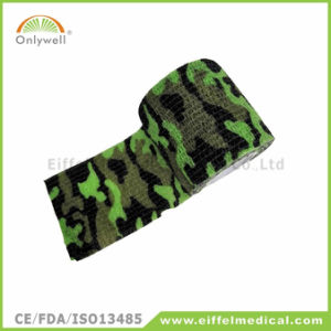 Medical Army Style Camouflage Self Adhesive Cohesive Sport Bandage pictures & photos