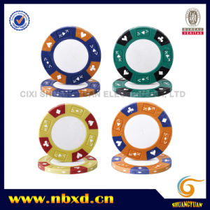 13.5g 3color Clay Sticker Chip with Customize Sticker (SY-E32) pictures & photos