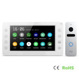 Intercom Home Security Doorbell 7 Inches Video Door Phone with Memory pictures & photos