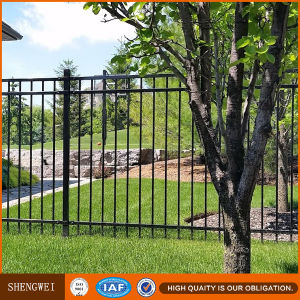 Galvanized Powder Coated Tubular Steel Safety Fencing pictures & photos