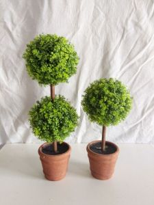 Best Selling Artificial Woodbox Tree Gu-Jm-2ball-Boxwood pictures & photos