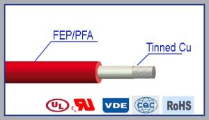 Flexible Single Core Double Teflon Insulation Cable pictures & photos