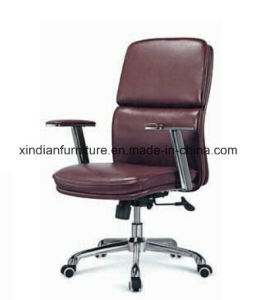 Hot Sale Office Swivel Leather Chair with Aluminium Arm pictures & photos