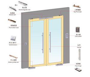 New Design Exterior Outdoor Swing Spring Aluminum Glass Doors pictures & photos
