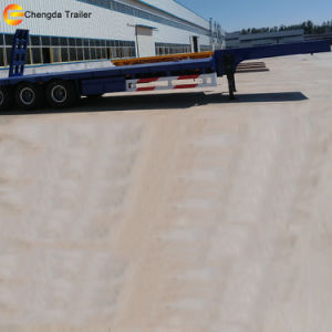 3 Axle 60ton Gooseneck Low Bed Semi Trailer Truck pictures & photos
