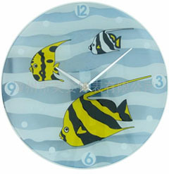 Glass Wall Clock