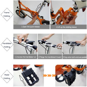 14 Inch 7 Speed Folding Electric Bike Mini Pocket E-Bike 250W pictures & photos
