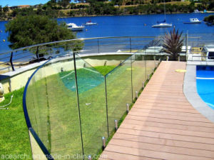 Best Quality Fully Frameless Tempered Glass Balustrade for Deck with Stainless Steel Spigot pictures & photos