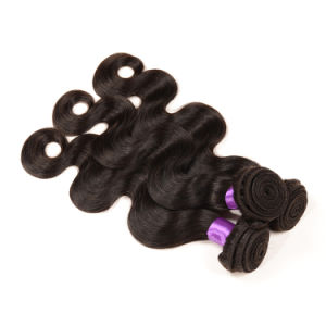 Wholesale in Stock Grey Human Hair Weaving Body Wave Virgin Brazilian Hair Extension pictures & photos