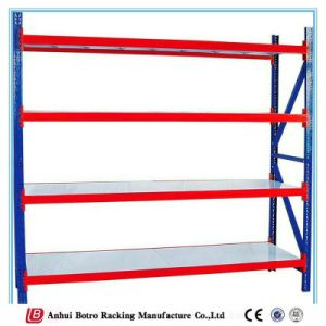 European Light Medium Duty Boltless Brushed Stainless Galvanized Steel Shelves pictures & photos