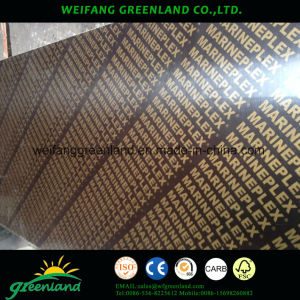 12mm One Time Hot Press Quality Fillm Faced Plywood with Black Film pictures & photos