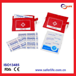 Red Cross Pocket First Aid Kit with Key Chain for Promotion pictures & photos