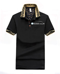 Jacquard Black Polo T-Shirts for Mens pictures & photos