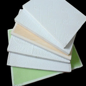Dew Drop, Leaf Pattern PVC Gypsum Ceiling Board (JH-GB) pictures & photos