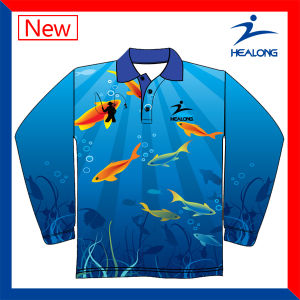 Healong Cool Design Mens Cheap Customized Wholesale Fishing T Shirt pictures & photos