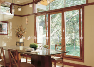 Aluminum Wood Cladding Double Glazing Tilt Turn Window/Casement Window pictures & photos