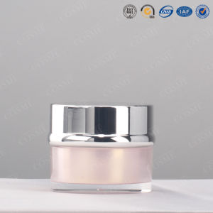 15g 30g 50g Elegent High Quality Round Silver Luxury Plastic Acrylic Jars Cosmetic pictures & photos
