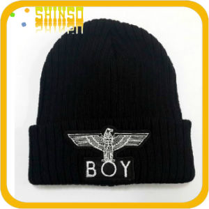 Soft Embroidery Knitted Beanies Cap (BS008SST)