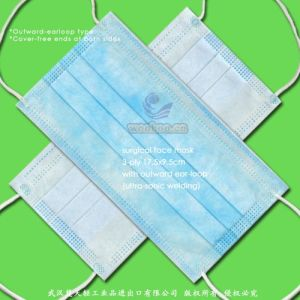 Disposable Nonwoven Medical Face Mask with Elastic pictures & photos